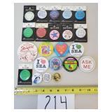 22 Novelty Button Pins