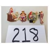 4 Roger Rabbit Disney Trading Pins