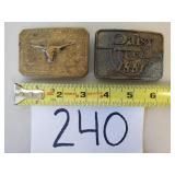 2 Belt Buckles (See Description)
