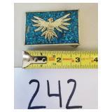 Vintage Mosaic Bird Belt Buckle (See Description)