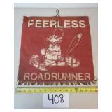 Vintage Peerless Roadrunner Log Truck Safety Flag