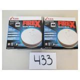 2 Kidde FireX Smoke Alarms