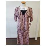 Sag Harbor Blouse & Skirt Outfit - L/XL - w/ Tags