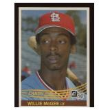 1984 Donruss Baseball Card #353 Willie McGee