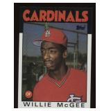 1986 Topps #580 Willie McGee