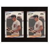 Two Cards 1988 Fleer #78 Will Clark