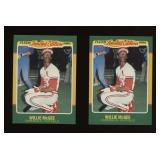 Two Cards 1986 Fleer LE #29 Willie McGee
