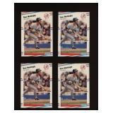 Four Cards 1988 Fleer #214 Don Mattingly