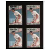 Four Cards 1989 Fleer #258 Don Mattingly