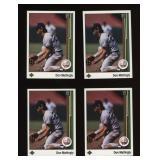Four Cards 1989 Upper Deck #200 Don Mattingly
