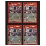 Four Cards 1990 Donruss #304 Rickey Henderson