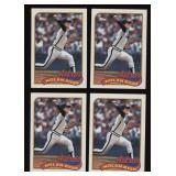 Four Cards 1989 Topps # 530 Nolan Ryan