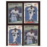 Four Cards Rickey Henderson 209 and U-54
