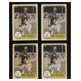 Four Cards 1981 Fleer #351 Rickey Henderson