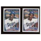 Two Cards 1989 Topps #225 Ramon Martinez Rookie