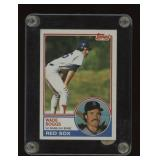 1983 Topps Baseball Rookie Card #498 Wade Boggs
