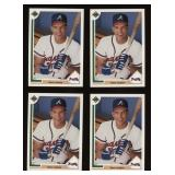 Four Cards 1991 Upper Deck # 363 Dave Justice