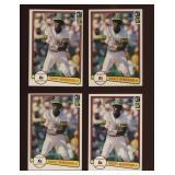 Four Cards 1982 Donruss #113 Rickey Henderson