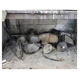Assorted Auto mirrors (under table)