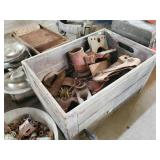 Vintage Wood Crate with clamps for frame straighte