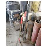Assorted tools - Drain Snake, Load Bar ect..