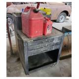 2 Gas Cans and Tool Chest