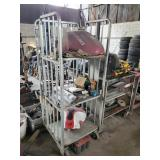 Steel Cart and Contents - Motorcycle tanks ect.