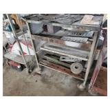 Metal Cart with Contents