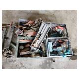 4 Crates with tools, parts ect.