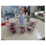 Assorted Candles and Candle Stick Angel