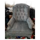 (2) Upholstered Swivel Arm Chairs