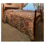 Full Wood Bed Frame & Bedding