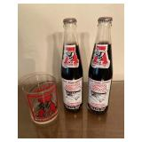 (3) Pair of SEALED CRIMSON TIDE COLAS & Glass Cup