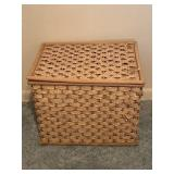 Square Woven Style Basket With Handles