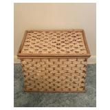 Smaller Square Woven Style Basket with Handles