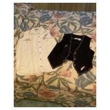 Pair of White & Black HandPainted FSU Vests