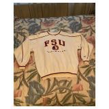 White FSU Pull Over Sweatshirt