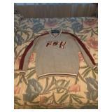 Grey FSU Pull Over Sweatshirt