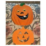 (2) Pumpkin Hanging Wall Decor