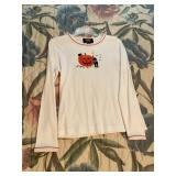 White Pumpkin & Cats Harvest Halloween Shirt