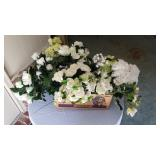 Box Full of Artificial Flowers