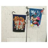 Lot of 2 Mickey Mouse Lawn Flags