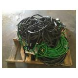 Pallet of Miscellaneous Garden Hoses
