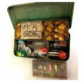 Tackle box with fishing gear