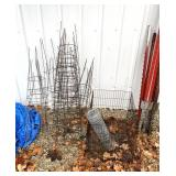 Tomato cages/fence post/wire