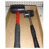 2 rubber hammers