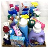 VTY of laundry and bathroom cleaners/supplies