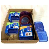 Ziploc and other storage containers w/lids