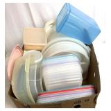 Large variety of storage containers