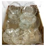 VTY of Glass plates and service dishes